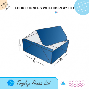Four corners with display lid